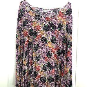 Somedays lovin floral print tunic mini dress